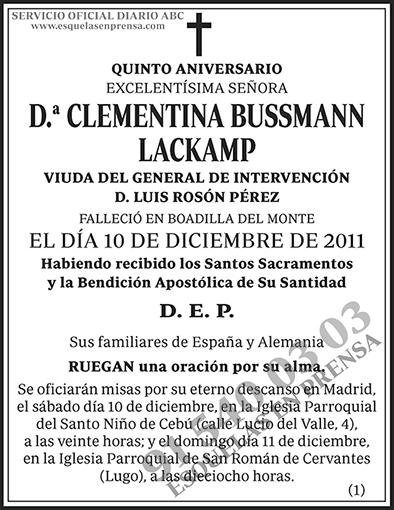 Clementina Bussmann Lackamp